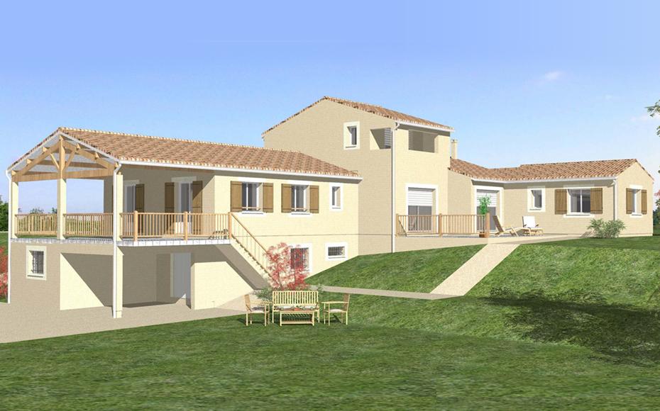 Mod le de maison avec sous sol osiris - Maison en l avec tour ...