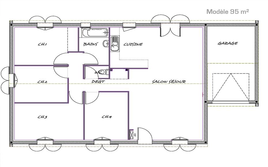 Ambre les maisons aura for Plan exterieur maison