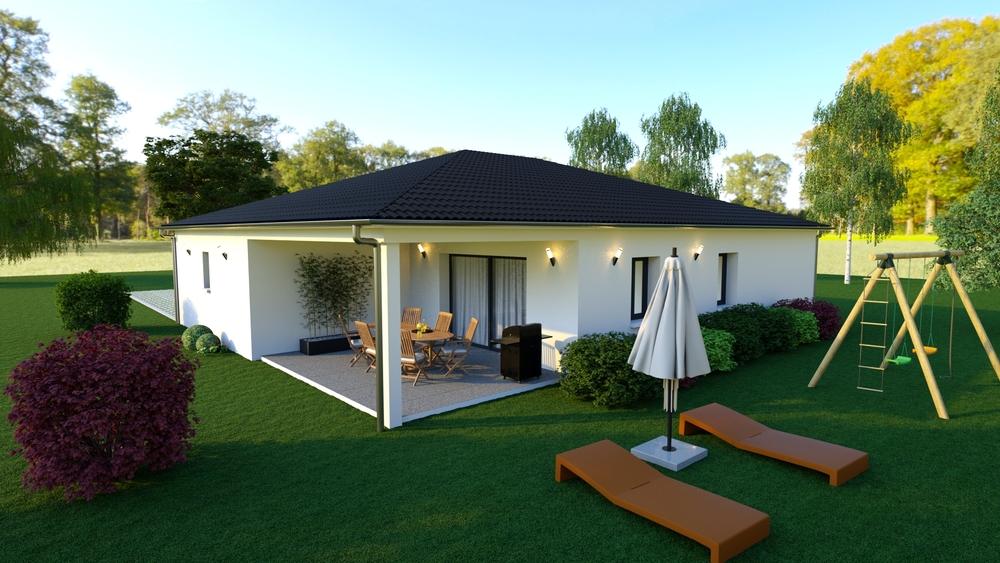 Vue sur une superbe terrasse couverte