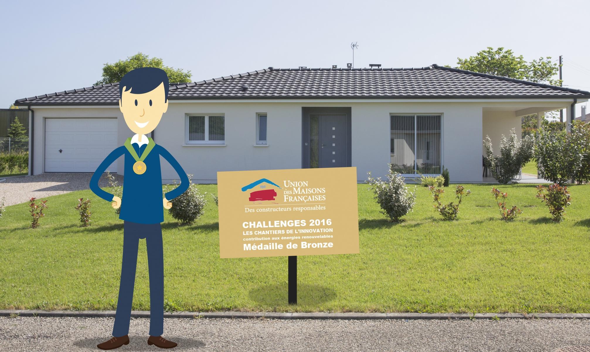 Maisons Aura, médaille de bronze au challenge de l'Union des Maisons Françaises 2016