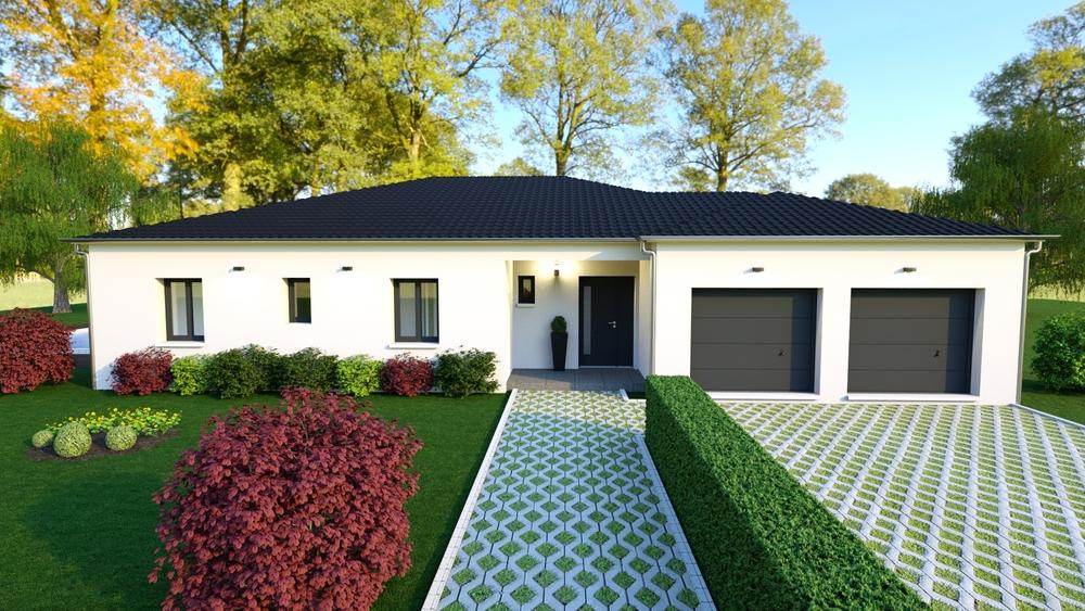 Maison spacieuse et vue sur un jardin coloré