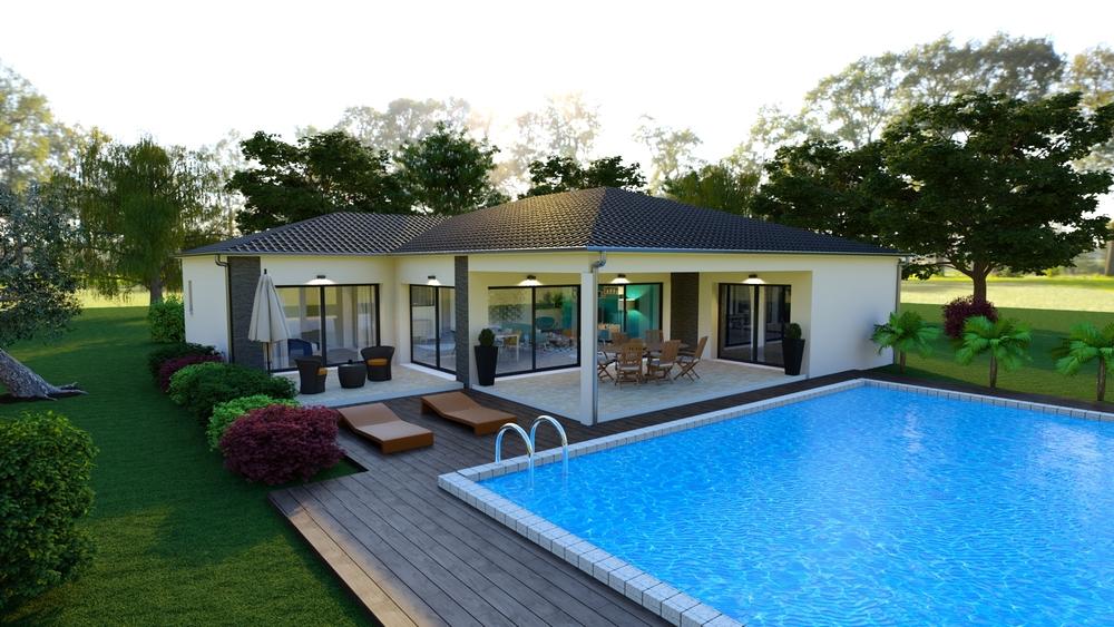 Superbe terrasse avec piscine