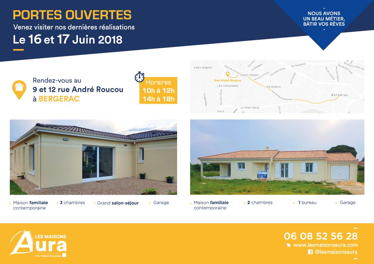 Portes ouvertes maisons neuves à Bergerac