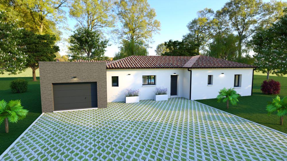 Entrée d'une maison contemporaine avec garage