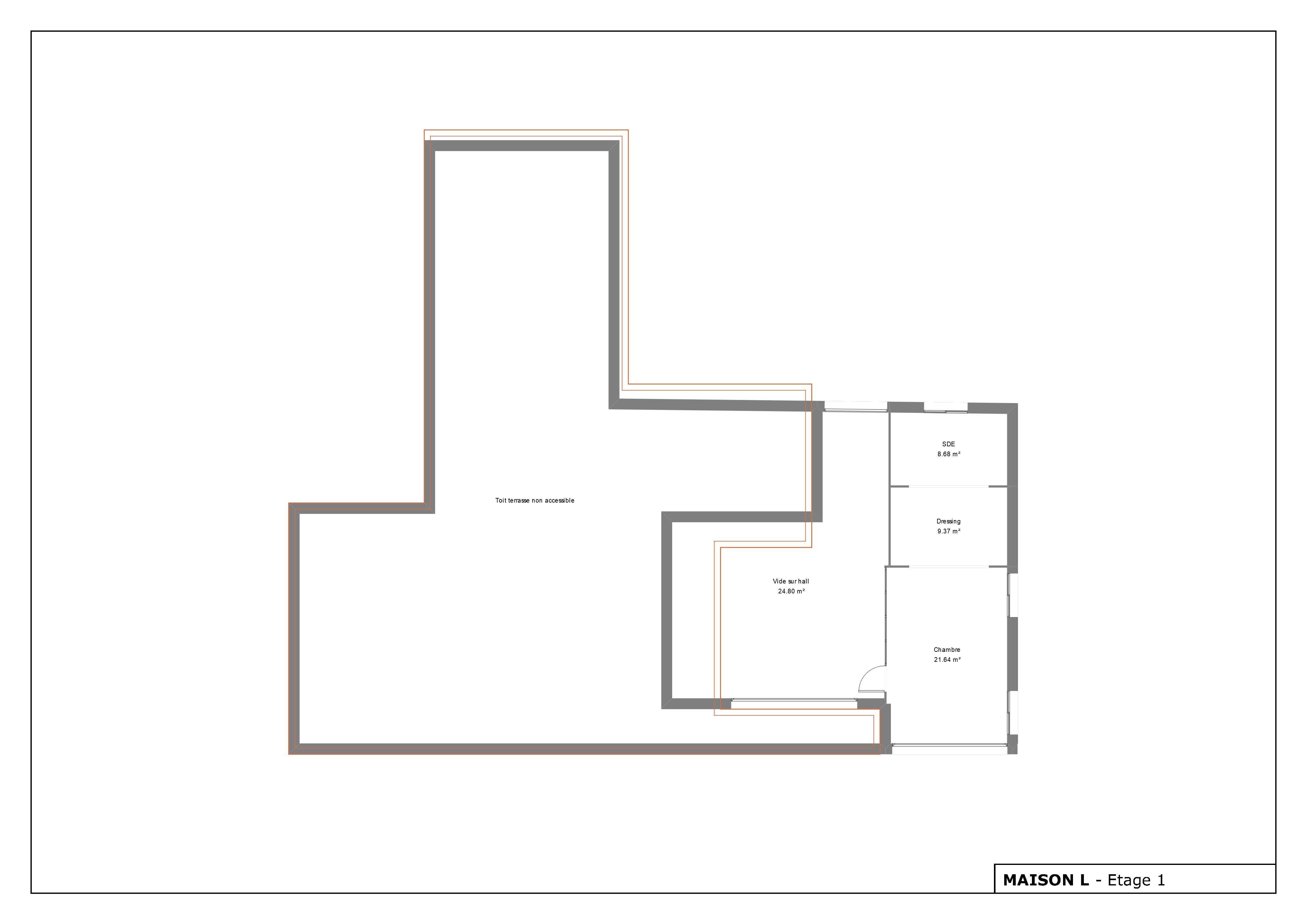 Plan maison moderne avec 2 étages