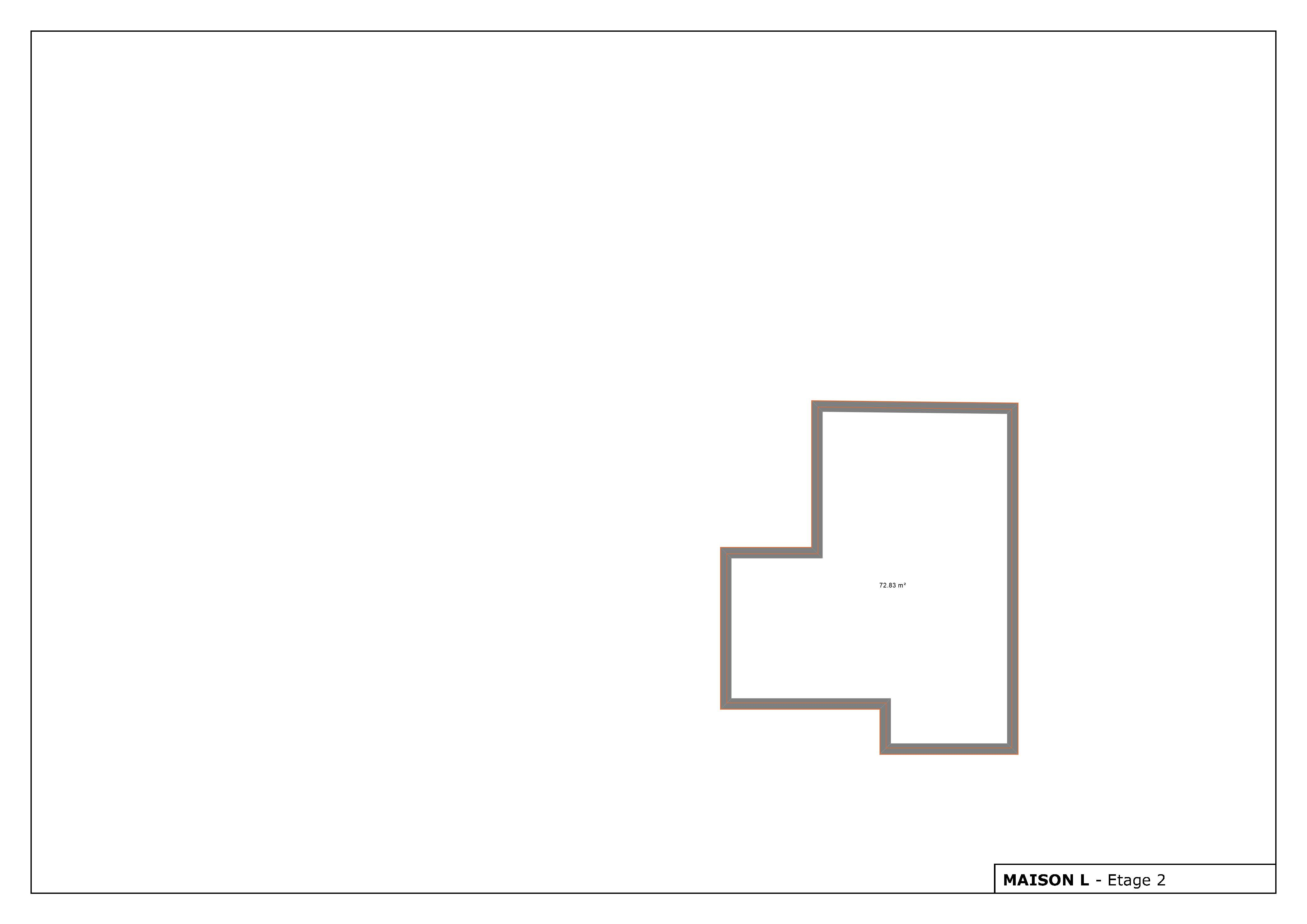 Plan maison avec 2 étages