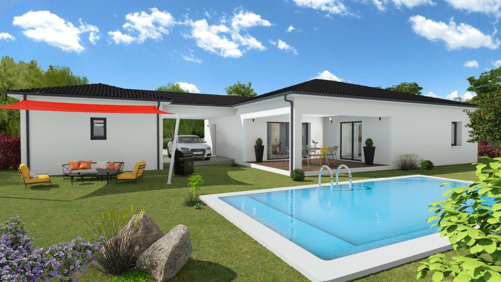 Maison contemporaine avec terrasse et piscine en Dordogne