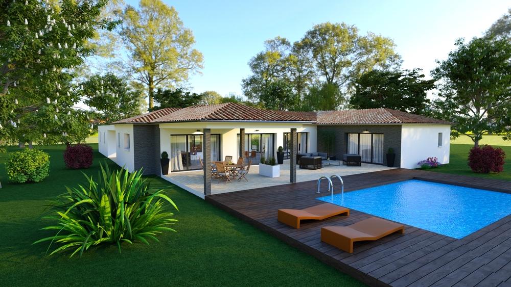 Vue sur une superbe terrasse spacieuse et conviviale