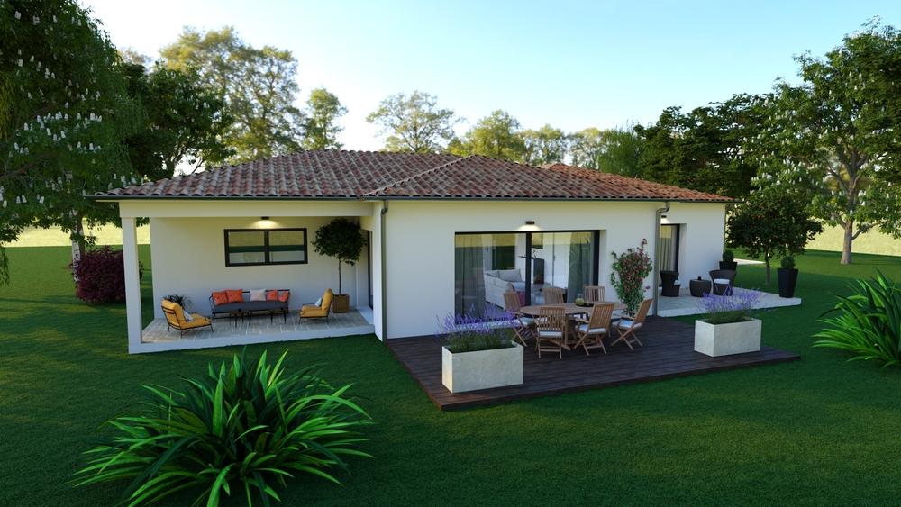 Vue sur une superbe terrasse chaleureuse