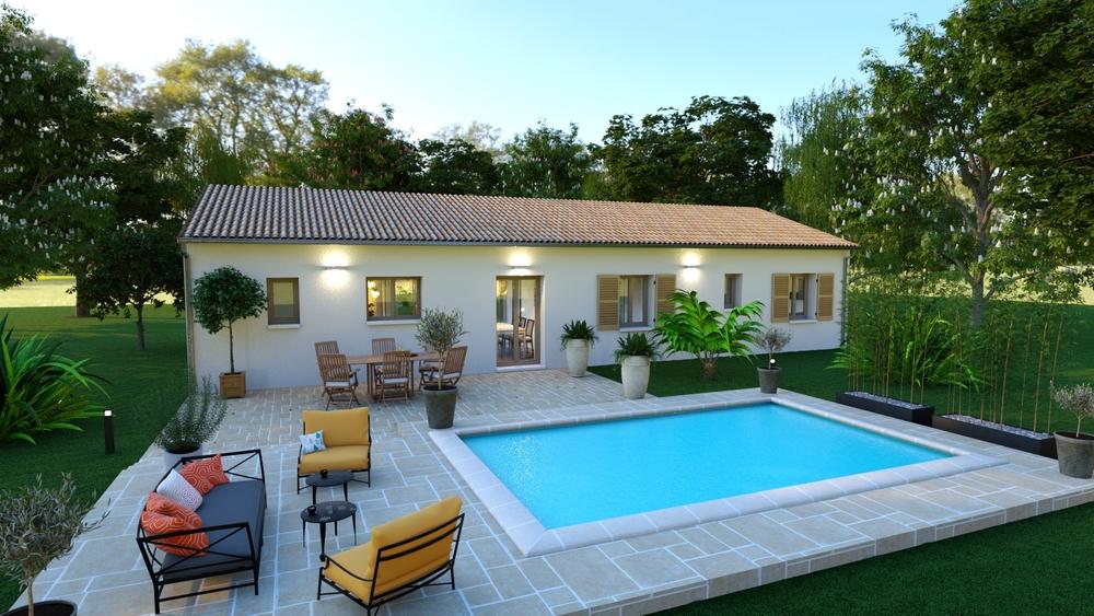 Bel extérieur avec terrasse et piscine