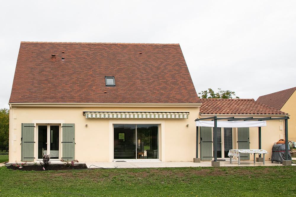 Maison traditionnelle en Périgord noir dans le ville Saint Julien de Lampon